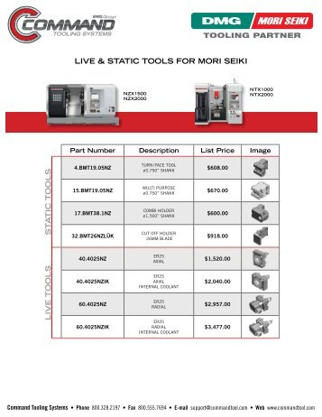 EWS Live and Static Tools For DMG/Mori Seiki - Command Tooling ...