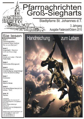Pfarrblatt 2010 1 - Pfarre Groß Siegharts