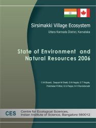 2006 - Centre for Ecological Sciences - Indian Institute of Science