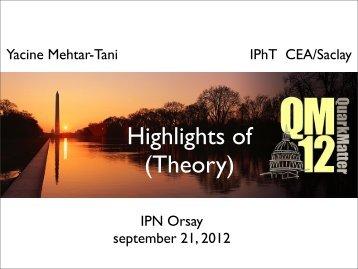 Yacine Mehtar-Tani IPhT CEA/Saclay IPN Orsay september 21, 2012