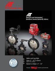 Manual and Automated Resilient Seated Butterfly Valves - AT Controls