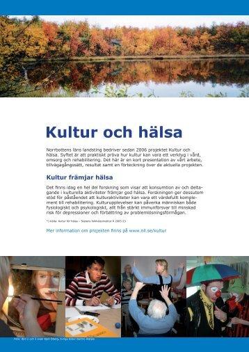 Kultur och hälsa - NLLplus.se, Norrbottens Läns Landsting