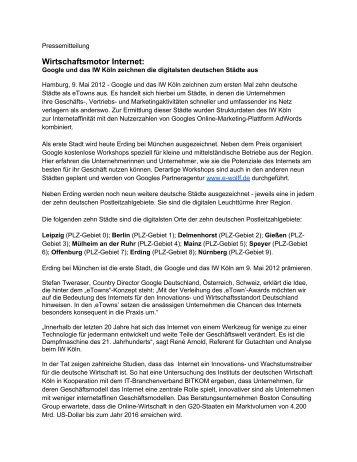 Pressemeldung 2012 - Online Motor Deutschland
