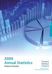 2009 Annual Statistics - Fitness to Practise - General Medical Council