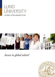 Invest in global talent! - Lund University