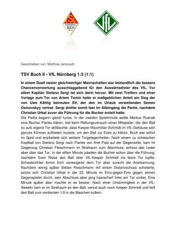 TSV Buch II - VfL Nürnberg 1:3 (1:1)