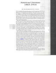 American Literature 1865-1914