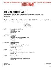 DENIS BOUCHARD - Agence Goodwin