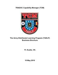 Business Plan - U. S. Army Training Support Center