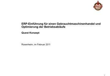 Konzept 3: ERP-Einführung für einen ... - Quest Consulting