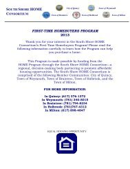 FIRST-TIME HOMEBUYERS PROGRAM 2013 - City of Quincy