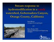 Stream response to hydromodification in a sandy watershed ...