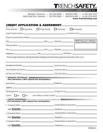 Credit Application And Agreement Forward Air