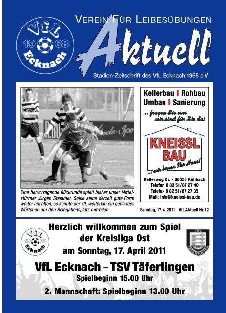 VfLAktuell_12_10/11 - VfL Ecknach