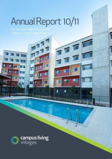 Annual Report 10/11 - Campus Living Villages