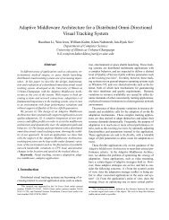 Adaptive Middleware Architecture for a Distributed Omni-Directional ...