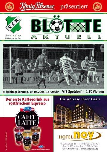 Tabellen - VfB Speldorf