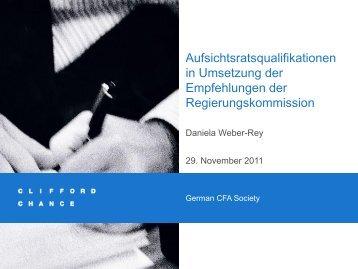 Aufsichtsrat - CFA Society Germany eV