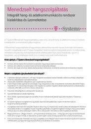 Részletes, letölthető termékleírás ( pdf, 92 kB ) - T-Systems