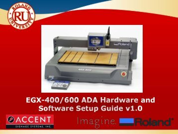ADA Hardware and Software Configuration for EGX-400/600