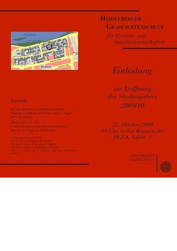 Programm - Heidelberger Graduiertenschule für Geistes