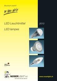 LED Leuchtmittel LED lampes - NOSERLIGHT AG ...