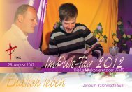 Die Landeskonferenz der VFMG 26. August 2012 Endlich leben ...