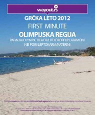 FIRST MINUTE OLIMPIJSKA REGIJA - Wayout