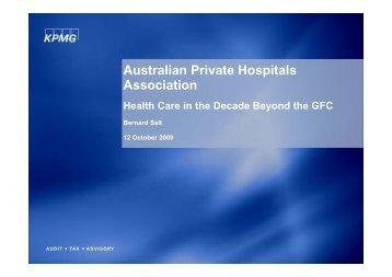 Bernard Salt presentation - Australian Private Hospitals Association