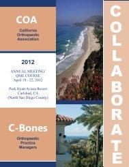 COA C-Bones - California Orthopaedic Association