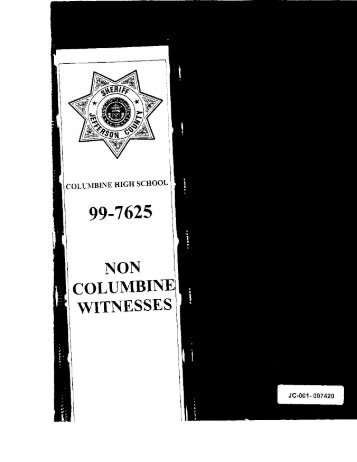 Non-Columbine Witnesses - Evan Long