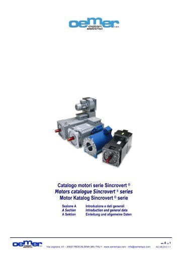Catalogo motori serie Sincrovert ® Motors catalogue Sincrovert ...