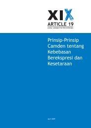 Prinsip-Prinsip The Camden - Article 19
