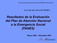 Presentación Inicial de Evaluación del PANES - Observatorio Social