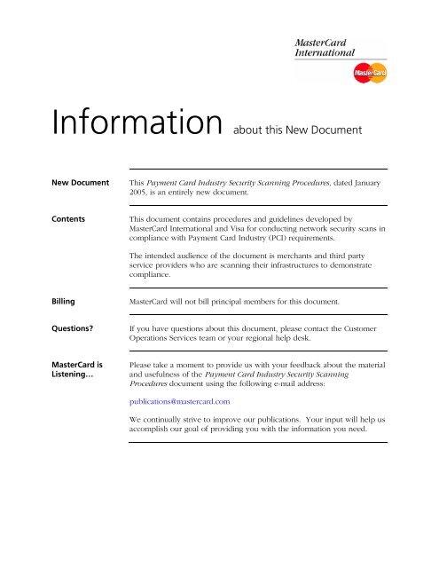 PCI Sec Scan Procedures, Entire Manual
