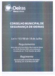 Regulamento e Regimento do Conselho Municipal de Segurança ...
