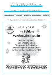 AAmmmtttsssbbblllaaattttt ffüüürrr ddiiiee - Doberlug-Kirchhain