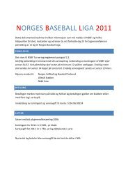 påmeldingsskjema - Norges Softball og Baseball-Forbund