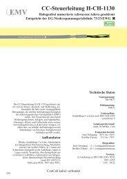 CC-Steuerleitung H-CH-1130 - ConCab kabel gmbh