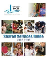division of educational services - Eastern Suffolk BOCES