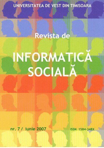 No 7 - Journal of Social Informatics / Revista de Informatica Sociala