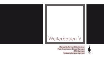 Weiterbauen V - BDA-Hamburg