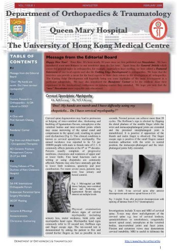 Vol.7 Issue 1, February 2008 - Department of Orthopaedics and ...