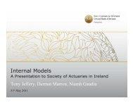 110531 Solvency II Internal Models.pdf - Society of Actuaries in Ireland