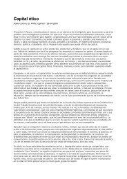 Capital ético - Fundación Étnor