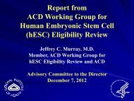 Presentation from the ACD Stem Cell Working Group (PDF – 187KB)
