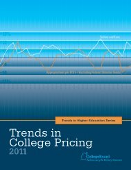 Trends in College Pricing 2011 - US News & World Report
