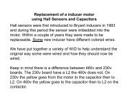 Inducer Motor Using Hall Sensors and Capacitors - Behler-Young