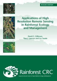Applications of High Resolution Remote Sensing in Rainforest ...