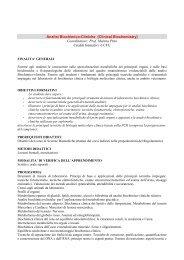 Analisi Biochimico-Cliniche - Medicina e Chirurgia